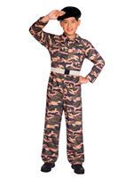 Child Camo Soldier Costume
