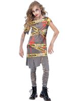 Girls Caution Zombie Costume
