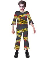 Boys Caution Zombie Costume