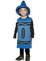 Child Crayola Crayon Blue Costume 3-4 YRS