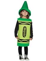Child Crayola Crayon Green Costume 3-4 YRS
