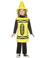 Child Crayola Crayon Yellow Costume 3-4 YRS