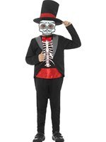 Child Day of the Dead Boy Costume