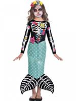 Child Day of the Dead Mermaid Costume