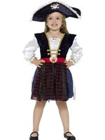Child Deluxe Glitter Pirate Costume [48137]