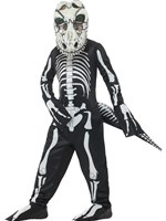Child Deluxe T-Rex Skeleton Costume [48006]
