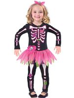Child Fancy Bones Skeleton Costume