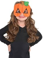 Child Felt Pumpkin Mask