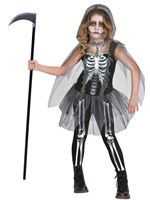 Child Girl Skeleton Reaper Costume
