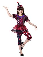 Child Halloween Clown Girl Costume