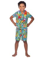 Child Hawaii Set Blue Costume