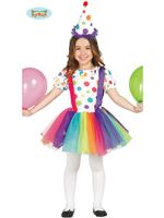 Child Little Girl Clown Costume [85585]