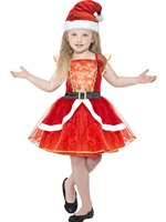 Child Miss Santa Costume