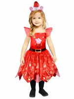 Child Peppa Pig Christmas Dress  Costume