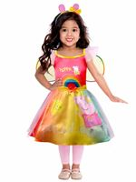 Child Peppa Pig Rainbow Dress Costume [9908876]
