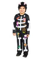 Child Peppa Skeleton Costume [9907583]