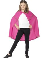Child Pink Superhero Cape [44561]