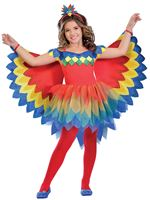 Child Pretty Parrot Fairy Costume