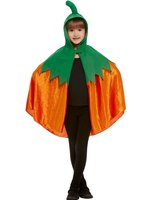 Child Pumpkin Hooded Cape