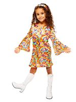 Child Rainbow Hippie Costume