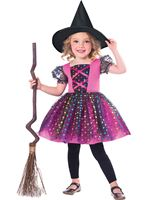 Child Rainbow Witch Costume