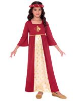 Child Red Tudor Princess Costume