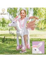 Child Ride On Unicorn Light and Sound Costume [RUNI-LS]