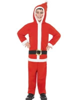 Child Santa Onesie Costume