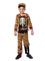 Child Skeleton Boy Soldier Costume