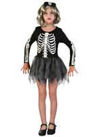 Child Skeleton Girl Costume