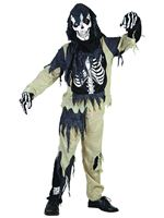 Child Skeleton Zombie Costume