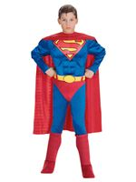Child Superman Muscle Chest Costume