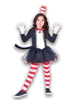Child The Cat in the Hat Dress Set Costume