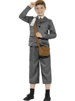 Child WW2 Evacuee Boy Costume