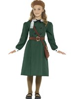 Child WW2 Evacuee Girl Costume