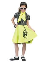 Child Yellow Poodle Dress Costume
