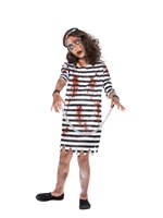 Child Zombie Convict Girl Costume