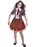 Child Zombie Schoolgirl Costume