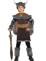 Child Viking Warrior Costume [999661]