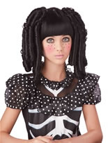 Childrens Black Baby Doll Curls Wig [70692]
