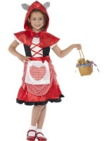 Child Miss Red Riding Wolf Costume