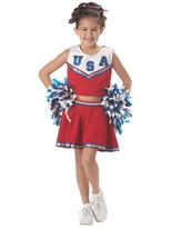 Child Patriotic Cheerleader Costume