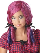 Childrens Purple Doll Curls Wig