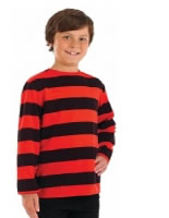 Child Red and Black Striped Jumper
