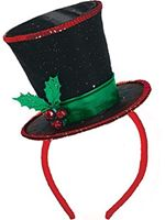Christmas Diva Top Hat Headband
