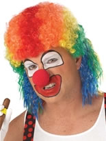 Clown Mullet Multi Coloured Wig