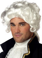 Colonial Man White Wig [70172]