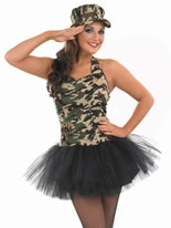 Adult Commando Tutu Girl Costume