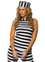 Adult Convict Cutie Costume
