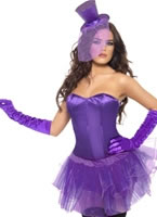 Burlesque Corset and Layered Tutu Costume [22924]
